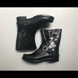 Sperry Black Quilted Rain Boot